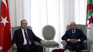 Cumhurbaşkanı Recep Tayyip Erdoğan ve Cezayir Cumhurbaşkanı Abdulmecid Tebbun
