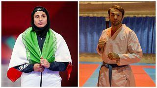 بهمن عسگری و حمیده عباسعلی برندگان مدال طلا از ایران در لیگ جهانی کاراته