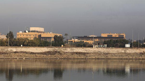 مبنى السفارة الأمريكية على ضفاف نهر دجلة بالعاصمة العراقية بغداد. 03/01/2020