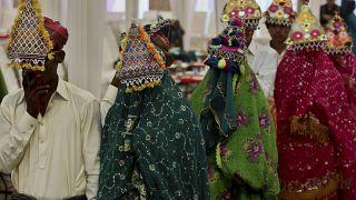 حفل زفاف جماعي في باكستان