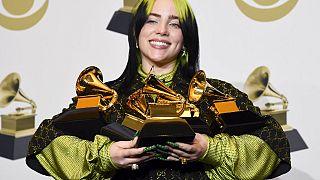 Billie Eilish bezsebelte a Grammy-gála négy legfontosabb díját