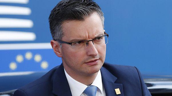 Slovenian Prime Minister Marjan Sarec in Brussels, Sunday, June 30, 2019.