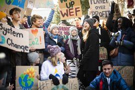 Swedish climate activist Greta Thunberg participates in