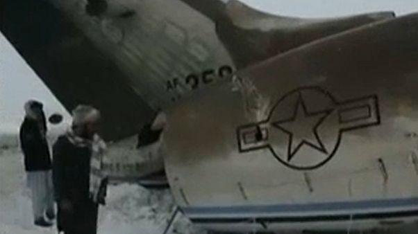 Un avión militar de la Fuerza Aérea de EEUU se estrella en Afganistán