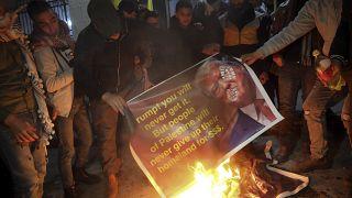 Manifestation à Bethléem (Cisjordanie) contre le plan de paix américain