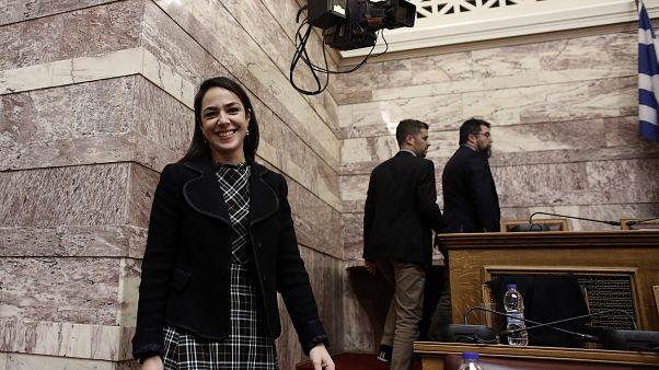 Η υφυπουργός Εργασίας και Κοινωνικών Υποθέσεων, αρμόδια για θέματα πρόνοιας και κοινωνικής αλληλεγγύης, Δόμνα Μιχαηλίδου
