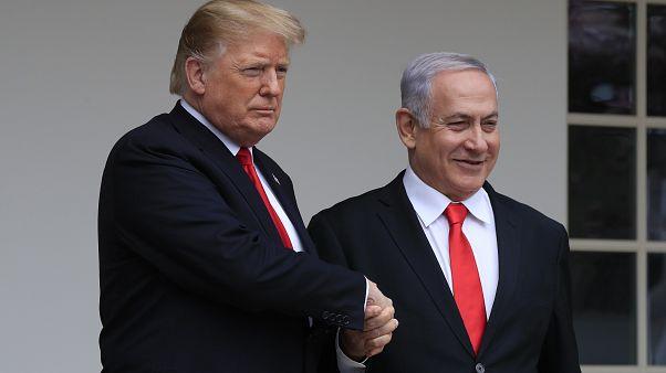 الرئيس الأمريكي دونالد ترامب ورئيس الوزراء الإسرائيلي بنيامين نتنياهو