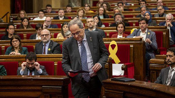 پارلمان محلی کاتالونیا رئیسجمهور استقلالطلب را از نمایندگی عزل کرد