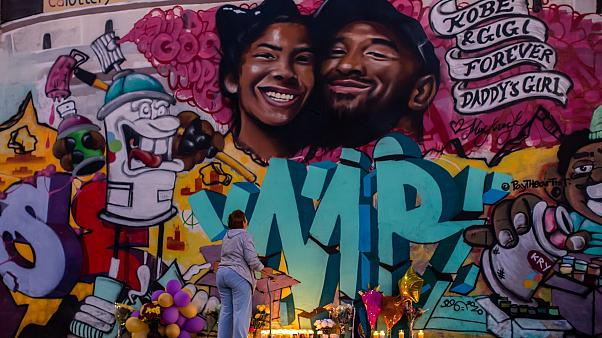 Kobe Bryant death: Mural of basketball star and daughter Gianna appears in LA