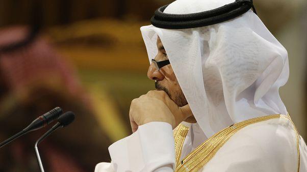 رئيس الوزراء القطري عبد الله بن ناصر بن خليفة آل ثاني يحضر القمة الأربعين لمجلس التعاون الخليجي في الرياض بالمملكة العربية السعودية