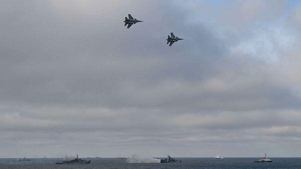 Savaş Uçakları tatbikatta