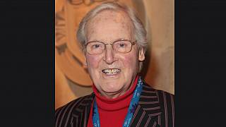 Nicholas Parsons at the premiere of The Cirque du Soleil in 2014