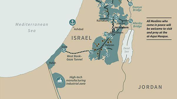 ABD Başkanı Donald Trump'ın paylaştığı İsrail haritası