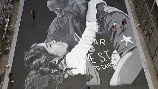 Huge mural in Manila honours Kobe Bryant and daughter