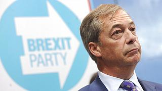 Nigel Farage speaks during the launch of the Brexit Party's European election campaign, Coventry, England, Friday, April 12, 2019. (