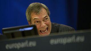 Nigel Farage, el eurodiputado más polémico y euroescéptico, se despide de la Eurocámara