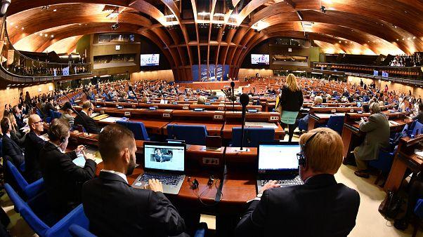 Fransa'nın Strasbourg kentindeki Avrupa Konseyi Parlamenter Meclisi (AKPM) genel kurulu