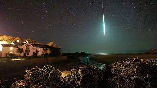 El meteorito entrando en la atmósfera el 21 de enero