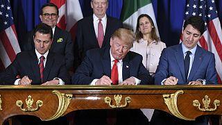 Trump ABD-Meksika-Kanada Ticaret Anlaşması'nı (USMCA) imzaladı