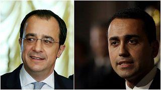 Kıbrıs Rum Kesimi Dışişleri Bakanı Nikos Hristodulidis ve İtalya Dışişleri Bakanı Luigi Di Maio