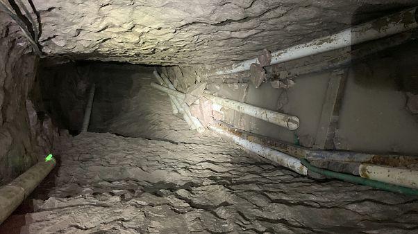 ABD-Meksika sınırında 14 futbol sahası uzunluğunda kaçakçılık tüneli keşfedildi