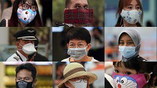 Combinazione di volti con mascherine da Kuala Lumpur
