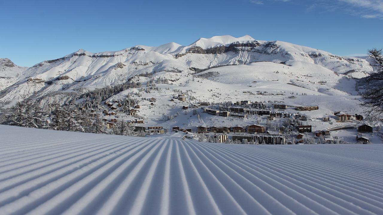 The ski slopes at Valberg, Guillaumes, France.