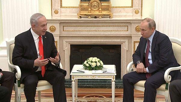 الرئيس الروسي فلاديمير بوتين يجنمع برئيس الوزراء الإسرائيلي بنيامين نتانياهو-موسكو 30 يناير 2020