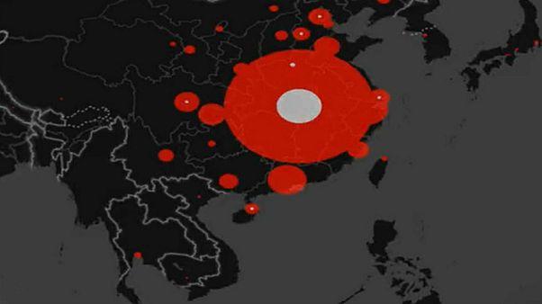 المناطق الجغرافية التي انتشر فيها فيروس كورونا في آسيا، منذ 2020/01/21 إلى غاية يومنا هذا 2020/01/30