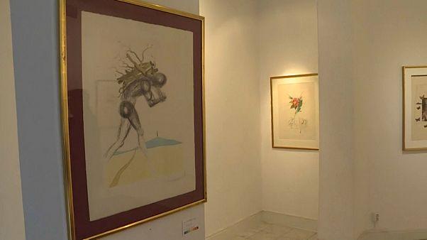 المعرض الفني الذي سرقت منه منحوتات سلفادور دالي-ستوكهولم 30 يناير 2020