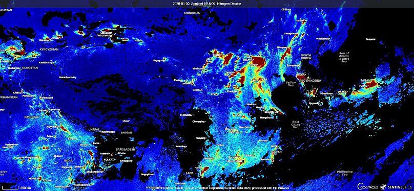 Unión Europea. Contiene datos modificados de Copernicus Sentinel 2020 obtenidos con Sentinel Hub