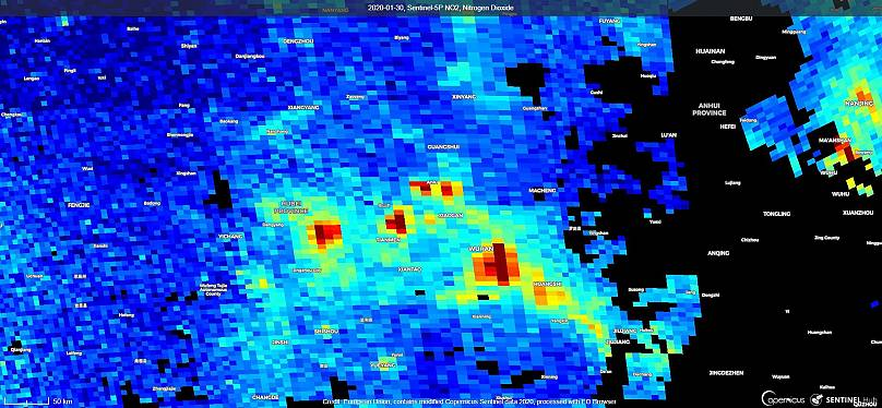 Unión Europea. Contiene datos modificados de Copernicus Sentinel obtenidos con Sentinel Hub