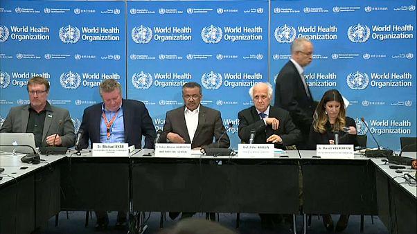 مسؤولو منظمة الصحة العالمية  في مؤتمر صحفي حول فيروس كورونا الجديد- جنيف -30 يناير 2020