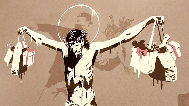 Banksy eddig nem látott művei a budapesti kiállításon