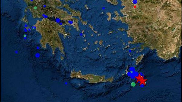 Σεισμός 4,2 ρίχτερ ανοιχτά της Καρπάθου