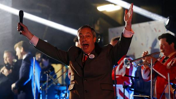 Nigel Farage enjoyed his moment at a rally in London to mark Britain leaving the EU