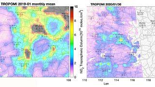 Mióta karantén alatt van Vuhan, jelentősen csökkent a károsanyag-kibocsátás
