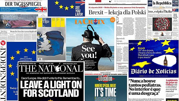 'We will miss you': How have Europe's front pages responded to Brexit day?