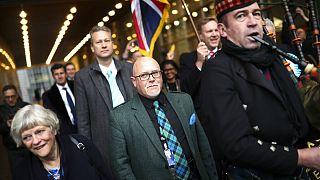 ویدئو؛ نمایندگان حزب برکسیت با شادی پارلمان اروپا را ترک کردند