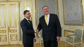 Mike Pompeo foi a Kiev reafirmar o apoio dos EUA à Ucrânia