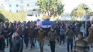 Tüntetések a Gázai övezetben Trump béketerve ellen