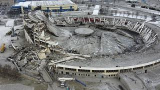 فروریختن استادیوم سنپترزبورگ یک کارگر را به کام مرگ  فرستاد