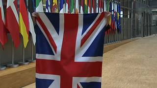Watch: EU officials remove British flag in Brussels