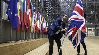 A brit zászló eltávolítása 2020. január 31-én