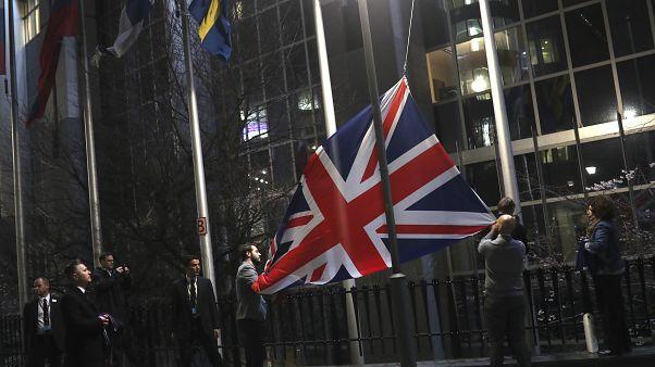 Brexit: Υπεστάλη η βρετανική σημαία από τα ευρωπαϊκά κτίρια στις Βρυξέλλες