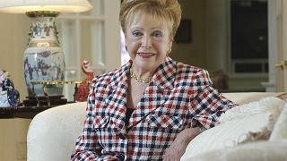 """Author Mary Higgins Clark, known as the """"Queen of Suspense"""" in her home in Saddle River, N.J. on June 3, 2004."""