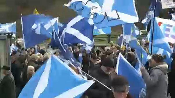 Na Escócia, o Brexit levou manifestantes às ruas