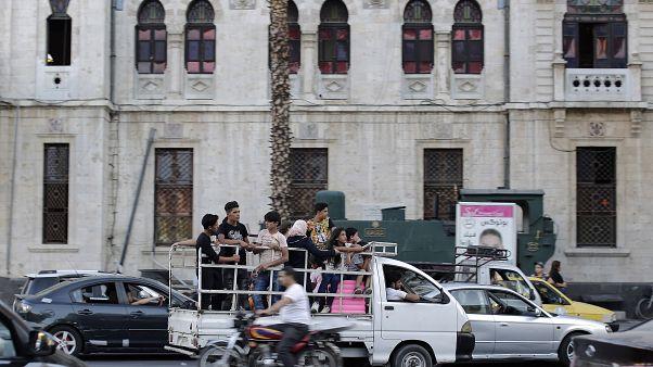 صورة من أحد شوارع دمشق