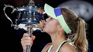 تنیس باز ۲۱ ساله اولین قهرمانی در گرند اسلم را در ملبورن جشن گرفت
