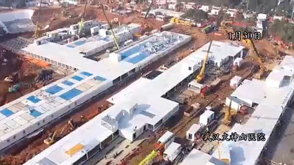 Nyolc nap alatt felépült az első kórházkomplexum Vuhanban